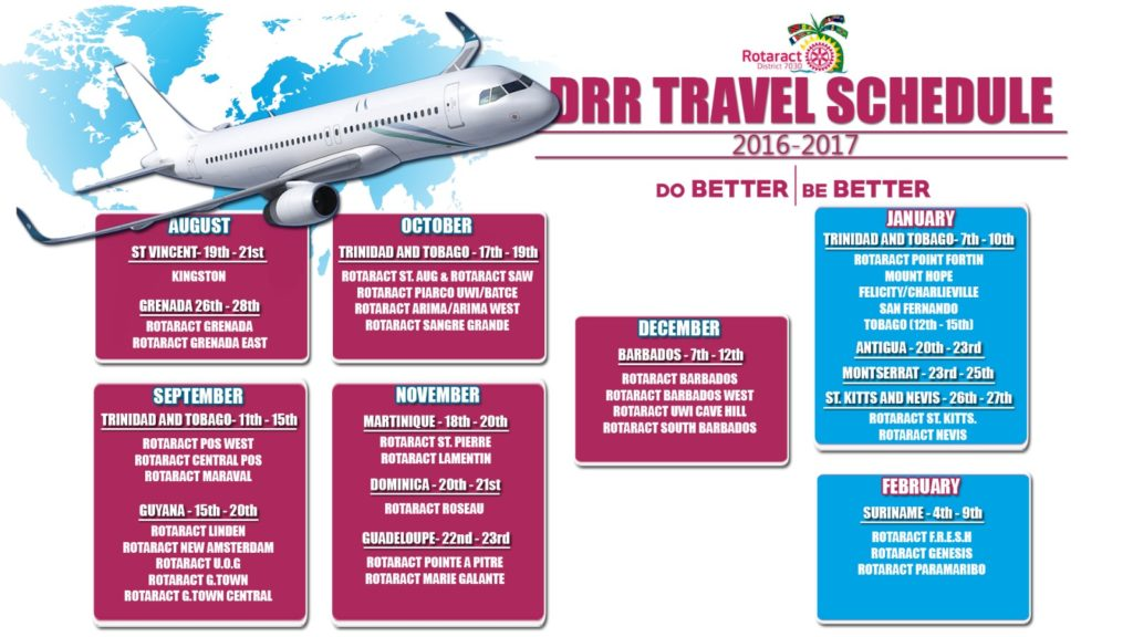DRR Travel Schedule