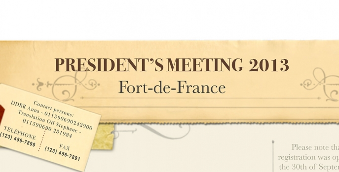 Presidents Meeting 2013 Newsletter
